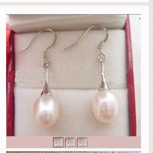Jewelry - New 925 Silver Natural Cultured Pearl Earrings